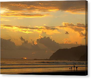 Jaco Canvas Print - Jaco Sunset by Daniel  Taylor