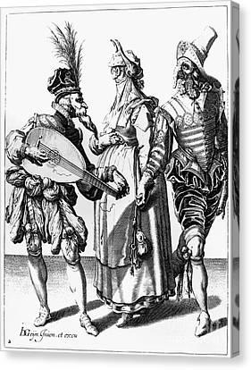 Lute Canvas Print - Jacob De Gheyn: The Masks by Granger