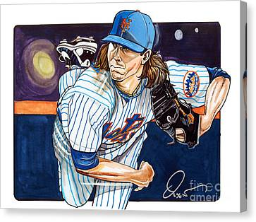 Jacob Degrom Of The New York Mets Canvas Print