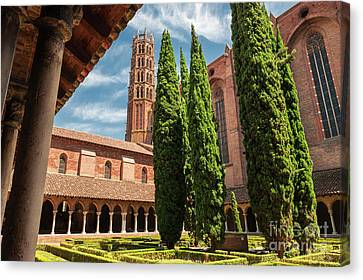 Cloistered Canvas Print - Jacobin Convent In Toulouse by Elena Elisseeva