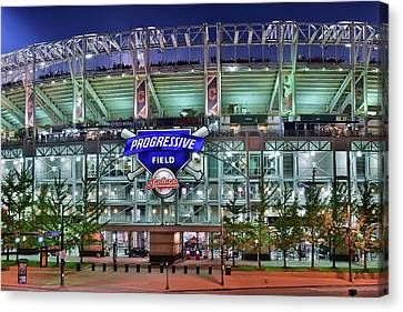 All Star Game Canvas Print - Jacobs Field by Frozen in Time Fine Art Photography