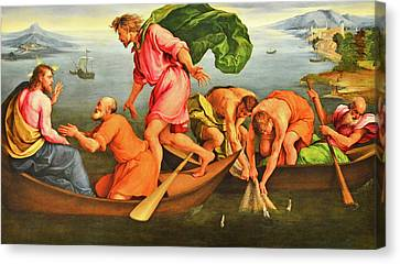 Canvas Print featuring the photograph Jacopo Bassano Fishes Miracle by Munir Alawi
