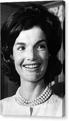 Jacqueline Kennedy As First Lady. Ca Canvas Print by Everett