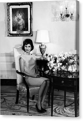 Jacqueline Kennedy, Circa. 1960s Canvas Print by Everett