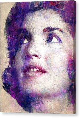 Jacqueline Kennedy Onassis Canvas Print by Angela Boyko