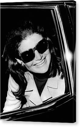 Jacqueline Kennedy Onassis Smiles Canvas Print
