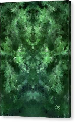 Jade 2 Light Dark 1 Canvas Print by Debora Nash
