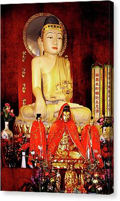 Jade Buddha Jing'an Temple Shanghai Canvas Print by Christine Till