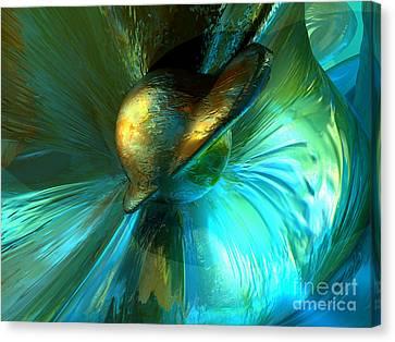 Jade Flower Abstract Canvas Print by Alexander Butler
