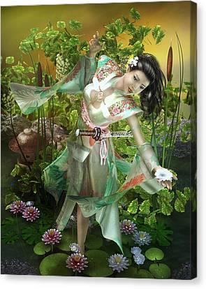 Jade Canvas Print by Mary Hood
