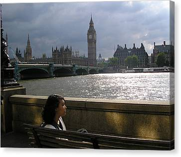 Jade On Thames Canvas Print by Devin Hyde
