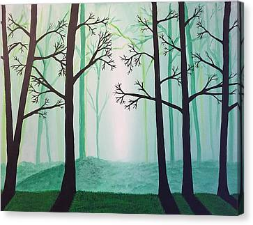 Jaded Forest Canvas Print
