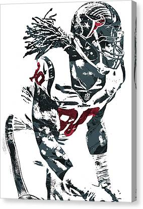 Jadeveon Clowney Houston Texans Pixel Art Canvas Print by Joe Hamilton
