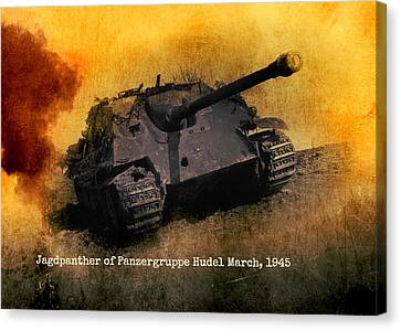 Canvas Print featuring the digital art Jagdpanther German Ww2 Tank by John Wills
