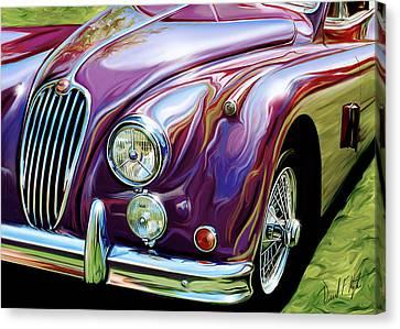 Jaguar 140 Coupe Canvas Print by David Kyte