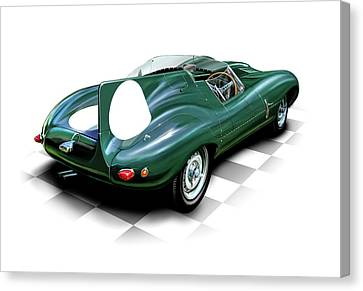 Jaguar D Type Canvas Print by David Kyte