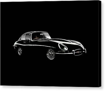 Jaguar E Type Black Edition Canvas Print