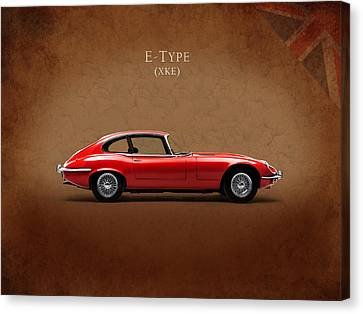 British Classic Cars Canvas Print - Jaguar E Type by Mark Rogan