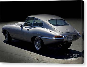 Jaguar E-type Nocturne Canvas Print by Curt Johnson