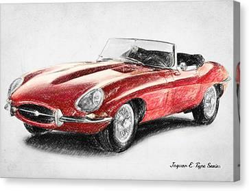 Jaguar E-type Canvas Print by Taylan Apukovska