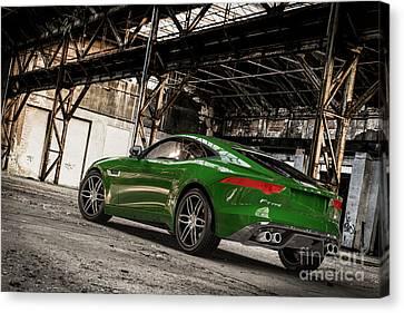 Jaguar F-type - British Racing Green - Rear View Canvas Print