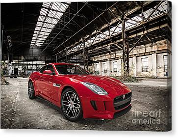 Jaguar F-type - Red - Front View Canvas Print