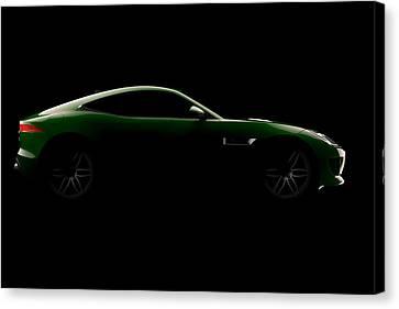 Jaguar F-type - Side View Canvas Print