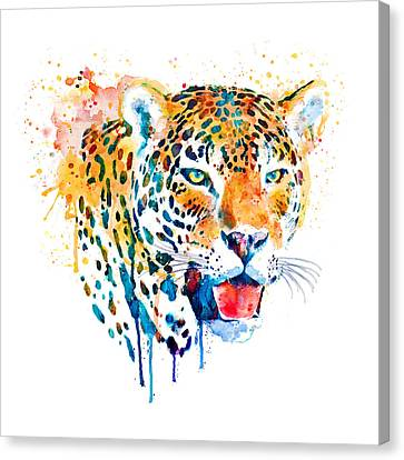 Jaguar Head Canvas Print