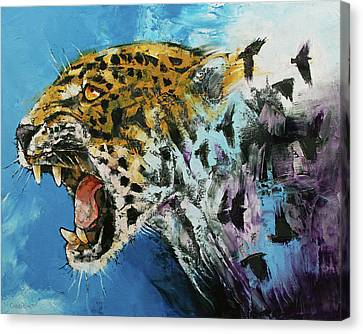 Panther Canvas Print - Jaguar by Michael Creese