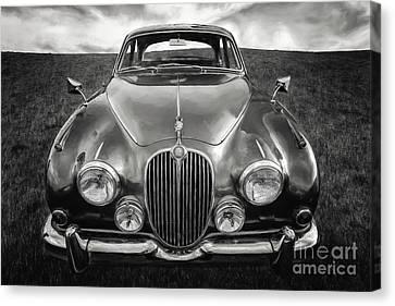 Jaguar Mk II 3.8 Litre Canvas Print by Adrian Evans