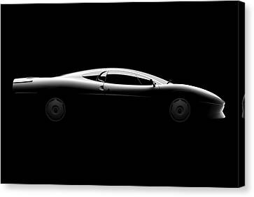 Jaguar Xj220 - Side View Canvas Print