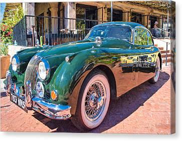 Canvas Print featuring the photograph Jaguar Xk Classic by Dan McManus