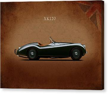 Jaguar Xk120 1949 Canvas Print by Mark Rogan