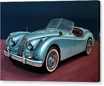 Jaguar Xk140 1954 Painting Canvas Print