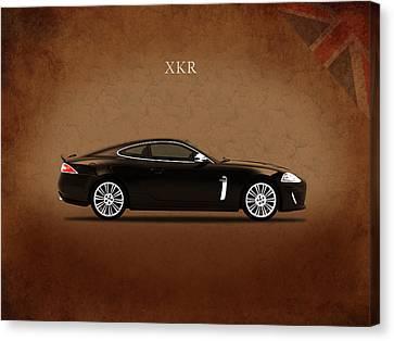 Jaguar Xkr Canvas Print by Mark Rogan