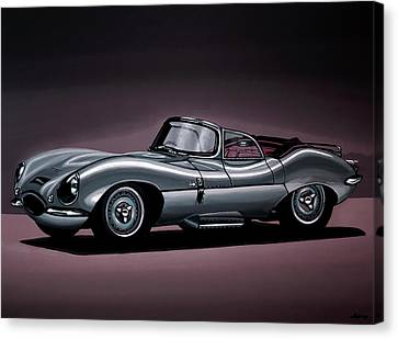 Jaguar Xkss 1957 Painting Canvas Print