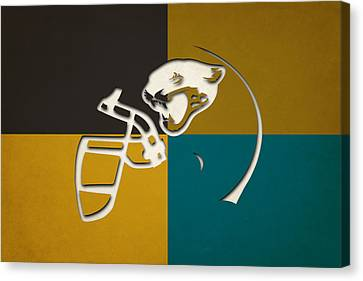 Jaguars Helmet Art Canvas Print by Joe Hamilton