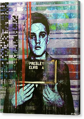 Street Art Canvas Print - Jailhouse Rock Le by Bobby Zeik
