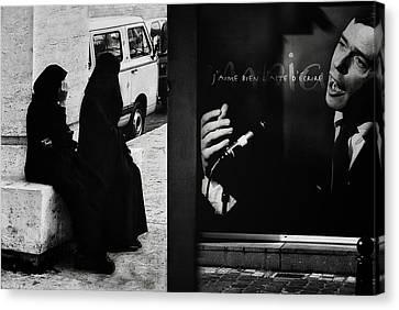 J'aime L'acte D'a?crire (ou De Dessiner) Canvas Print by Yvette Depaepe