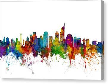 Jakarta Skyline Indonesia Canvas Print by Michael Tompsett