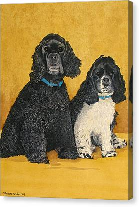 Jake And Lucy Canvas Print by Sharon Farber