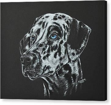 Working Dog Canvas Print - Jake  by Elizabeth Cox