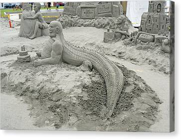 Canvas Print featuring the photograph Jake The Alligator Man  by Pamela Patch