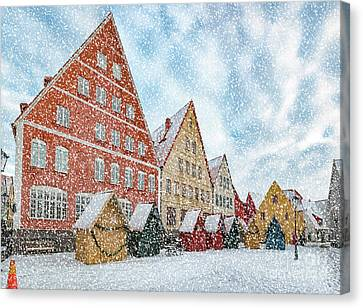Jakriborg In Heavy Snow Canvas Print by Antony McAulay