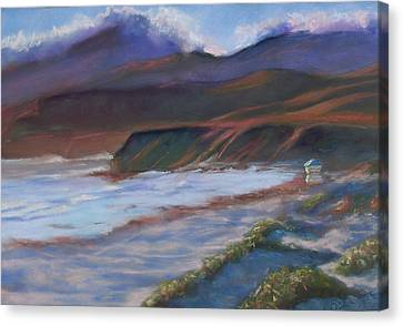Jalama Beach At Sunset Canvas Print by Laurie Paci