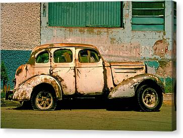 Rusted Cars Canvas Print - Jalopy by Skip Hunt