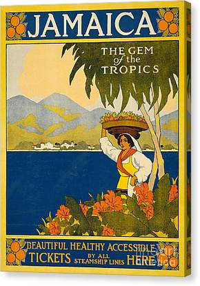 Jamaica  Vintage Travel Poster Canvas Print by American School