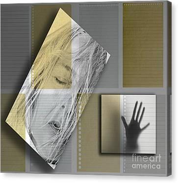 Blending Canvas Print - Jamais Plus Tard Dans Leur Souvenir  by Danica Radman