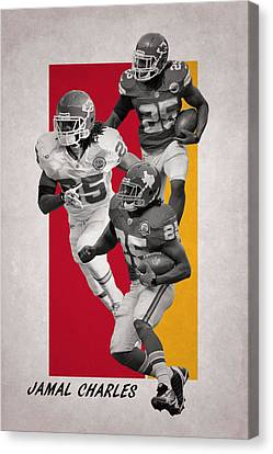 Jamal Charles Kansas City Chiefs Canvas Print
