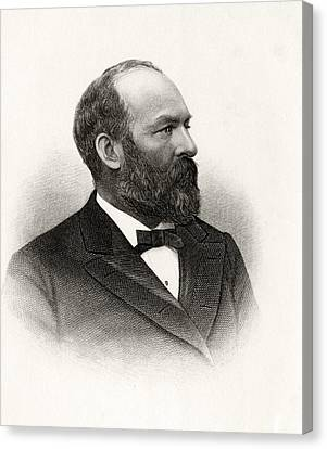 James Abram Garfield 1831 To 1881 20th Canvas Print by Vintage Design Pics
